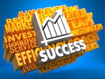 Success. Wordcloud Concept. Royalty Free Stock Image