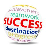 SUCCESS  - wordcloud - SPHERE Royalty Free Stock Photos
