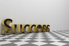 Success wording illustration rendered Royalty Free Stock Photography