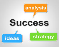 Success Words Indicates Succeed Resolution And Victors Royalty Free Stock Photos