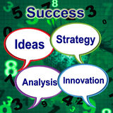 Success Words Indicates Thoughts Victory And Idea Royalty Free Stock Images