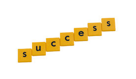 Success written in letter tiles. Success written in children's letter tiles Stock Photos