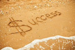 Success written in the sand Royalty Free Stock Photos