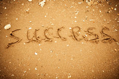 Success written in the sand Stock Photography