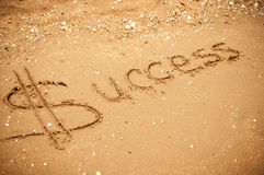 Success written in the sand Stock Images