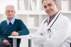 Success young doctor Stock Images
