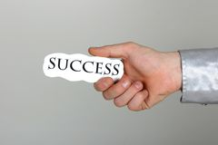 Success in your hand Royalty Free Stock Image