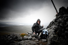successed wspinaczki góra Obrazy Royalty Free
