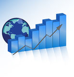 Successes business chart. With arrow Stock Photo