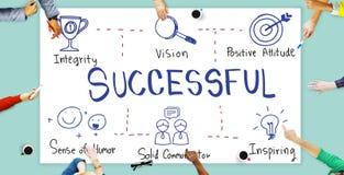 Successful Accomplishment Achievement Victory Concept Stock Photos
