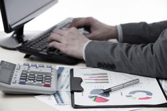 Successful accountant working Royalty Free Stock Photos
