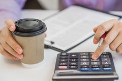 Successful accountant working with financial data in the office Stock Photography
