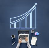 Successful Achievement Increase Growth Graphic Concept Stock Image