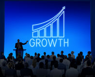 Successful Achievement Increase Growth Graphic Concept. Business People are in a growth meeting royalty free stock images