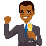 Successful African American Businessman Toasting Stock Photography