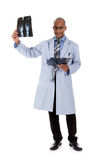 Successful African American man doctor, xrays Royalty Free Stock Photos