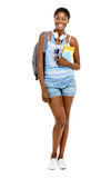 Successful African American student woman going back to school f Royalty Free Stock Photography