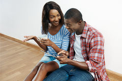Successful african couple Stock Photo