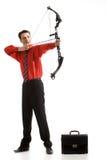 Successful archer Stock Image