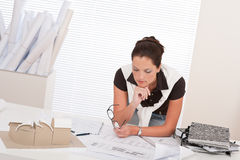 Successful architect business woman work at office Stock Photography