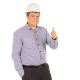Successful architect giving a thumbs up Royalty Free Stock Photography