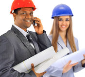 Successful architect team Royalty Free Stock Photos