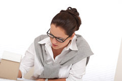Successful architect woman working at office Stock Photos
