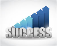 Successful arrow blue graph. illustration design Royalty Free Stock Photos