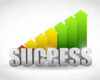 Successful arrow color graph. illustration design Royalty Free Stock Photo