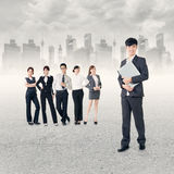 Successful Asian business team Royalty Free Stock Image