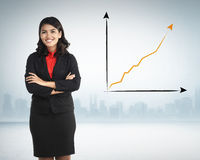 Successful Asian Business Woman Royalty Free Stock Photography