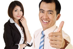Successful Asian executive. Man and woman portrait Stock Photography