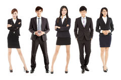 Successful asian young business team standing together Royalty Free Stock Photography