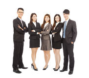 Successful asian young business team standing together Royalty Free Stock Image
