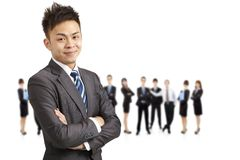 Successful asian young  businessman Stock Image
