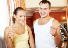 Successful athletes Stock Photo