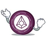 Successful Augur coin character cartoon. Vector illustration Stock Images