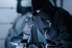Successful Auto Theft Portrait Stock Image
