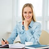 Successful business woman portrait. Successful beautiful business woman portrait Stock Photo