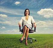 Successful beautiful businesswoman Stock Photography