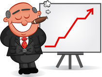 Boss Man Satisfied with Chart Stock Photo