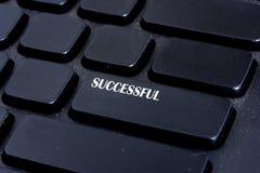 Successful Botton. On keyboard computer Stock Photography