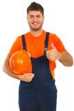 Successful builder worker Stock Image