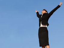 Successful busines woman royalty free stock images