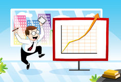 Successful business royalty free illustration