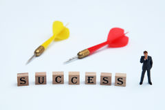 Successful business. Targeting success in life and business stock images