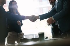 Successful business associates shaking hands Royalty Free Stock Photos