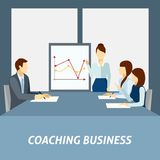 Successful business coaching poster Stock Photo