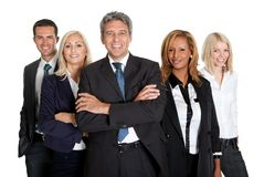 Successful business colleagues on white background Stock Photography
