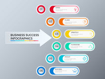 Successful business concept design marketing infographic template. Infographics with icons and elements. Can be used for workflow layout, diagram web design Stock Photography